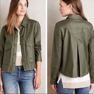 Anthropologie Hei Hei swing jacket in olive